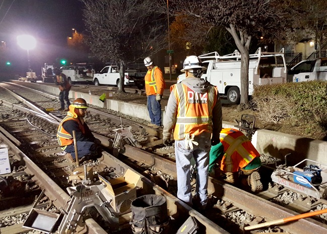 Lick Mill and Hetch Hetchy Crossovers, San Jose, Santa Clara VTA: Our firm was responsible for managing all systems construction, testing/commissioning and safety certification for these crossovers. We wrote the test procedures, performed integration testing, and prepared the safety certification verification report required by the SCVTA rail system safety review board. We were responsible for the overhead contact system, signaling, switches, track and traction power distribution including track negative return bonding for the TPSS.